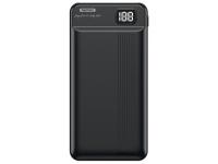 Baterie Externa Powerbank Remax RPP-106 cu afisaj LED 20000 mA, 2 x USB, Neagra, Blister