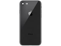 Capac Baterie cu rama mijloc si geam camera spate Negru Apple iPhone 8
