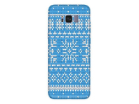 Husa TPU OEM Snowflakes Christmas pentru Samsung Galaxy S8 G950, Albastra, Bulk