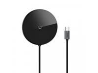 Incarcator Retea Wireless Baseus Circular Mirror, Qi 10W HUB Adapter 1x USB 3.0 + 3x USB 2.0 + 1x USB-C (PD), Gri, Blister WXJMY-0G