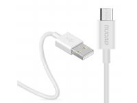 Cablu Date si Incarcare USB la MicroUSB Dudao 3A, L1M, 1 m, Alb, Blister