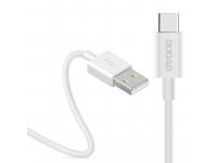 Cablu Date si Incarcare USB la USB Type-C Dudao 3A, L1T, 1 m, Alb, Blister