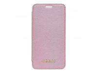 Husa Piele Guess Iridescent pentru Apple iPhone XR, + folie sticla pentru ecran, Roz Aurie, Blister GUBPBKTI61IRG