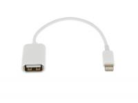 Adaptor OTG USB la Lightning OEM, Alb, Bulk