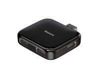 Hub Baseus Fully Folded, 4 x USB 2.0, Negru, Blister CAHUB-CW01