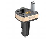 Emitator FM Bluetooth si MP3 Player AUTO, Dudao cu buton Apel, 2x USB, 3.4A,  R2Pro,  Negru, Blister