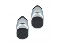 Handsfree Casti Bluetooth Forever TWE-200 + husa cu incarcare, SinglePoint, Argintiu, Blister