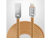 Cablu Date si Incarcare USB la Lightning Awei CL-17, 2 m, Auriu, Bulk