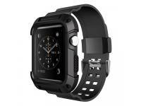 Husa TPU OEM Tough Apple Watch Series 3 38 mm, Neagra, Blister