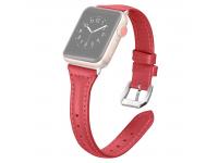 Curea piele T-shaped pentru Apple Watch Series 4 / 5 44mm, Rosie, Bulk