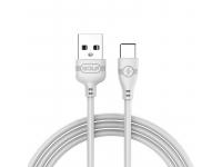 Cablu Date si Incarcare USB la USB Type-C Golf GC-63t, 1 m, Alb, Blister