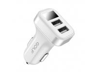 Incarcator Auto USB Golf GF-C10, cu afisaj, 2 X USB, Alb, Blister