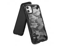 Husa Plastic - TPU Ringke Fusion X Design Camo pentru Apple iPhone 11, Neagra, Blister XDAP0003