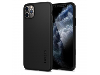 Husa TPU Spigen Thin Fit 360 pentru Apple iPhone 11 Pro Max, Neagra, Blister