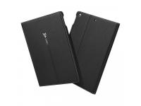 Husa Tableta Piele - TPU Gebei cu suport carduri pentru Apple iPad mini (2019), Neagra, Bulk
