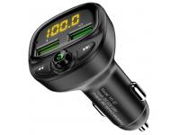 Modulator FM Bluetooth Floveme HY-87, Mp3 Player, Buton de apel, Negru, Blister