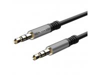 Cablu Audio 3.5 mm la 3.5 mm XO Design NB121, 1 m, Negru, Blister