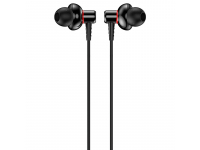 Handsfree Casti In-Ear Totu Design EAUA-028, Bole Series Metal, Cu microfon, 3.5 mm, Negru, Blister
