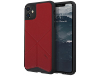Husa TPU - Textil UNIQ Transforma Rigor Apple iPhone 11, Rosie, Blister