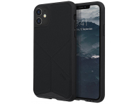 Husa TPU - Textil UNIQ Transforma Rigor Apple iPhone 11, Neagra, Blister