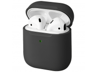 Husa TPU Uniq Lino pentru Apple Airpods 1 / 2, Neagra
