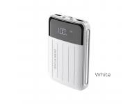 Baterie Externa Powerbank Borofone BT21 10000 mA, 2 x USB, Alba, Blister
