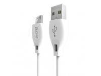 Cablu Date si Incarcare USB la MicroUSB Dudao L4M, 2.4A, 2 m, Alb, Blister