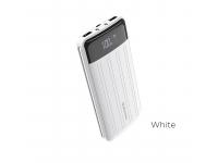Baterie Externa Powerbank Borofone BT21A, 20000 mA, 2 x USB, Afisaj Led, Alba, Blister