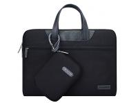 Set Geanta textil laptop 15.6 inci + Borseta mana Cartinoe Lamando, Neagra, Bulk
