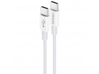 Cablu USB Type-C la USB Type-C Usams U44, PD Fast Charge, 60W, 3A, 1.2m, Alb, Blister US-SJ409