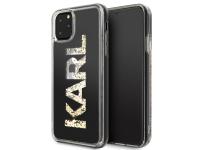 Husa TPU Karl Lagerfeld Glitter pentru Apple iPhone 11 Pro, Aurie, Blister KLHCN58KAGBK