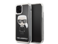 Husa TPU Karl Lagerfeld Iconic pentru Apple iPhone 11 Pro, Neagra, Blister KLHCN58ICGBK