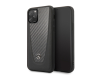 Husa Fibra Carbon MERCEDES pentru Apple iPhone 11, Neagra, Blister MEHCN61ACABK