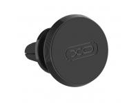 Suport Auto Universal XO Design C30B pentru Telefon, Magnetic, Negru, Blister