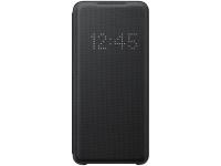 Husa Textil Samsung Galaxy S20 G980 / Samsung Galaxy S20 5G G981, Led View, Neagra EF-NG980PBEGEU