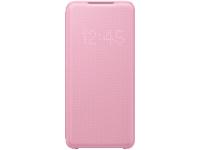 Husa Textil Samsung Galaxy S20 G980 / Samsung Galaxy S20 5G G981, Led View, Roz EF-NG980PPEGEU