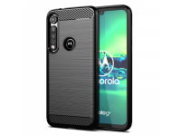 Husa TPU OEM Carbon pentru Motorola Moto G8 Plus, Neagra, Bulk