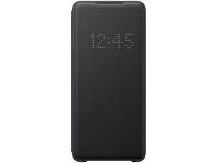 Husa Textil Samsung Galaxy S20 Plus G985 / Samsung Galaxy S20 Plus 5G G986, Led View, Neagra EF-NG985PBEGEU