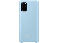 Husa Samsung Galaxy S20 Plus, Led Cover, Albastra, Blister EF-KG985CLEGEU