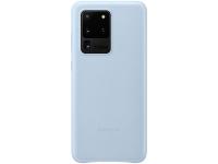 Husa Piele Samsung Galaxy S20 Ultra G988 / Samsung Galaxy S20 Ultra 5G G988, Leather Cover, Albastra EF-VG988LLEGEU