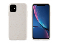 Husa Biodegradabila Muvit pentru Apple iPhone 11, Bambootek ECO, Alba(Cotton), Blister