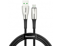 Cablu Date si Incarcare USB la MicroUSB Baseus Waterdrop, 4A, 1 m, Negru, Blister CAMRD-B01