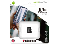 Card Memorie MicroSDXC Kingston Canvas Select Plus, 64Gb, Clasa 10 - UHS-1 U1 SDCS2/64GBSP