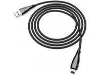 Cablu Date si Incarcare USB la Lightning HOCO Magnetic U75, 1.2 m, Negru, Blister