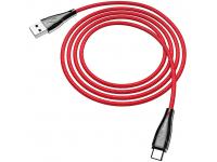 Cablu Date si Incarcare USB la USB Type-C HOCO Magnetic U75, 1.2 m, Rosu, Blister