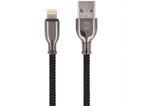 Cablu Date si Incarcare USB la Lightning Forever Core Tornado, 3A, 1 m, Negru, Blister