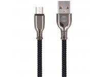 Cablu Date si Incarcare USB la MicroUSB Forever Core Tornado, 3A, 1 m, Negru, Blister