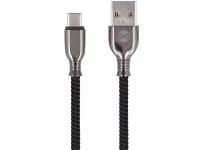 Cablu Date si Incarcare USB la USB Type-C Forever Core Tornado, 3A, 1 m, Negru, Blister