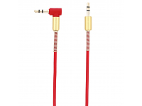Cablu Audio 3.5 mm la 3.5 mm Tellur, 1.5 m, Conector L, Rosu, Blister TLL311061