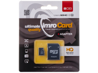 Card Memorie MicroSDHC Imro Cu Adaptor, 8Gb, Clasa 10, Blister MicroSD10/8G